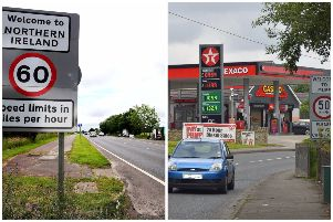 The Derry-Donegal border at Bridgend and Muff.
