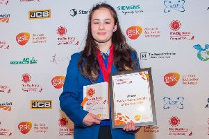 Maeve Stillman who has been named UK Young Scientist of the year