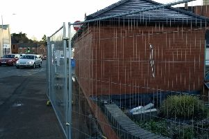 The new toilet block being built in Wilton Road, Melton, which will now be open on Monday EMN-190320-112331001