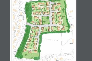 Proposed layout of new Ninfield development