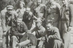 Some of the men who travelled to Spain to join the fight against fascism.