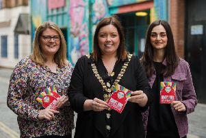 Charlotte Dryden (CEO Oh Yeah Music Centre), Deirdre Hargey (Lord Mayor, Belfast) and Charlene Hegarty (Talent Development & Project Coordinator, Oh Yeah Music Centre)
