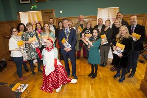 ARTS AND CULTURE STRATEGY 2019-2024. . . .The Mayor of Derry City and Strabane District Council, John Boyle pictured on Friday morning at the Guildhall for the Launch of Nominations to oversee the delivery of the Arts and Culture Strategy 2019-2024 for Derry City and Strabane District Council area. Included are representatives from the voluntary, community and private sectors, the arts and culture sector, other relevant statutory bodies, agencies and support organisations from across the North West and Council officers. (Photos: Jim McCafferty Photography)