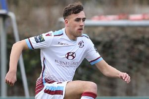 Bradley Stevenson scored for the second successive game as Hastings United drew 1-1 at home to Hythe Town this afternoon. Picture courtesy Scott White