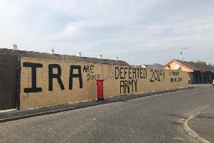The dissident republican mural was changed by local people. (Photo: Andrew Quinn)
