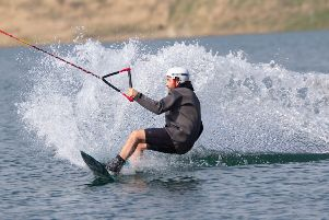 ** WEATHER PICTURE ** Fergus Harrington (36 from Stamford, Lincs)  trys new  Wakepark. 'Wakepark, Peterborough'Monday 22 April 2019. 'Picture by Terry Harris. THA