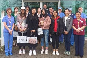 Chinese students enjoy first visit to Altnagelvin Hospital