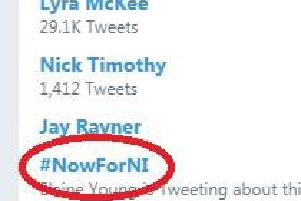#NowForNI began trending shortly after the committee published the report.
