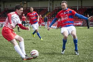 Derry City's Gareth McGlynn in action against the Czech Republic on Sunday.