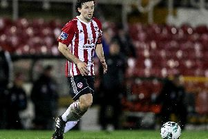 Derry City's Barry McNamee fired home the opener against St Patrick's Athletic.