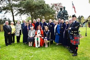 The service at Curran Park was attended by council representatives, naval military personnel and other dignitaries