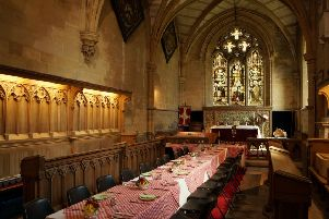 Riby Church hosts breakfast in the aisle
