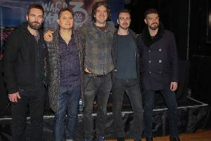 Snow Patrol: Johnny McDaid, Nathan Connolly, Gary Lightbody, Johnny Quinn and Paul Wilson.