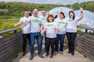 Rory (second from left) with fellow walkers (l-r) Darren Ferguson, Rory Mullan, John Waites, Patricia Fleming, Grainne McCloskey and Amanda Kirkpatrick.