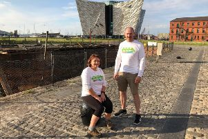 Patricia and Rory at Titanic Building.