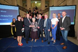 Elaine Forde, The Playhouse, Michael McEvoy, Department of Justice, Mary Hamilton, PCSP, Jonathan Hunter, PSNI, Dermot Harrigan PCSP and Vanessa Russell, PCSP, Max Beer, The Playhouse and host Barra Best.