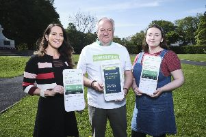 """Pictured with Samaritans�"""" director Wesley Wilson are Johanna McGuigan and Ellen O�""""Reilly from Ardmore."""