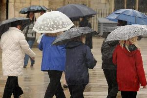 There is a rain weather warning in Peterborough and Cambridgeshire