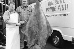A halibut caught off Rockall and landed in Greencastle in 1994.