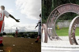 The Tinnies in Strabane and Lifford Roundabout sculptures.
