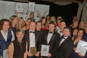 Winners pictured at last year's Melton Times Achievement Awards, which has been renamed the Best of Melton awards this year - this shows the Team of the Year category, which was won by Hallmark Consumer Services EMN-190617-135309001