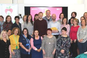 Western Trust's Choose to Loose programme participants enjoy their celebration event at Altnagelvin Hospital.