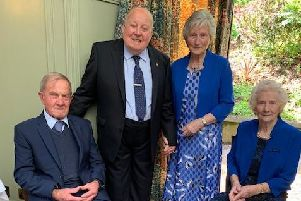Brigid and Patrick McKenna with their bridesmaid Rose Bradley and bestman Frank McKenna at a special function to mark their 60th anniversary.