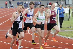 Will Boutwood in the mix for Chichester in the 800m at Portsmouth / Picture by Ian Hargreaves