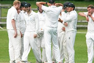 Billingshurst celebrate a wicket
