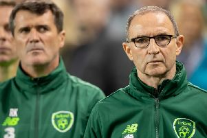 Martin O'Neill pictured with his former Ireland and Nottingham Forest assistant, Roy Keane.