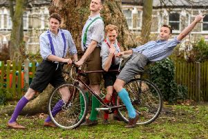 The HandleBards' all-male troupe