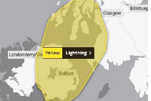 Yellow warning for lightening