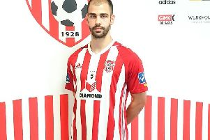 Derry City's new signing Conor Davis.