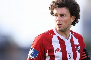 Derry City's Barry McNamee missed a great chance at Bohemians on Monday night.
