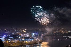 Hallowe'en celebrations in Derry are always topped off with an amazing fireworks display over the River Foyle.