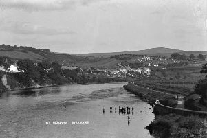 Paddling in the Mourne, Strabane during the 1920s.