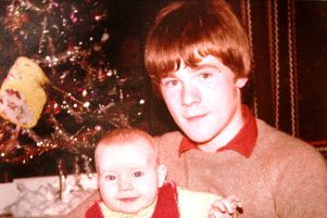 Paul Whitters (15) pictured with his baby brother Aidan.