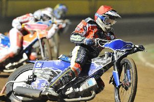 Chris Harris riding for Peterborough Panthers in 2017.