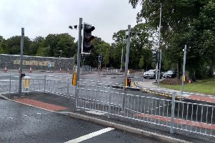 The new traffic lights on the Limavady Road which are now operational.