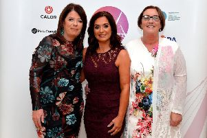 Jacqueline Williamson, CEO, Gena McDowell-Callan, Business ans Operations Manager and Margret Olgivie, Trustee, from Kinship NI pictured at the Derry Journal People of the Year Awards last year. DER3618GS031