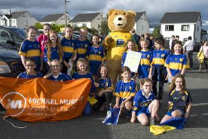 The Naomh Padraig GAC took part in last year's Muff Festival Parade. DER3118GS034