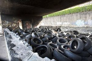 The tyres at the site under Lecky Road flyover have been removed.