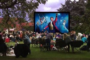 The Vale Centre playing fields will be transformed into a theatre with 50ft outdoor cinema screen showing The Greatest Showman