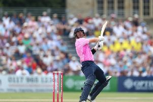 Dan Lincoln strikes out for Middlesex in the Vitality Blast - now he is England's 12th man / Picture: Getty Images