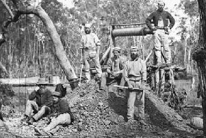 Early picture of convicts in Australia. (File picture)