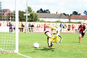 Action from Kettering Town's 2-1 home defeat to Gateshead