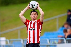 Derry City's Ciaran Coll was disappointed after Friday night's home defeat to Shamrock Rovers.