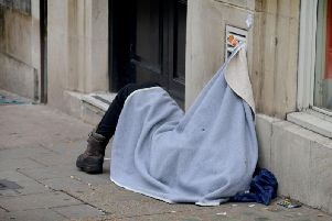 The number of  people sleeping rough on Wellingborough's streets has grown hugely over the past two years.