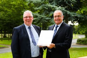 Pictured at the recent energy briefing hosted by firmus energy: (L-R) Terry Rice, Contracts Manager at firmus energy and Alan Maguire, Bushmills Distillery