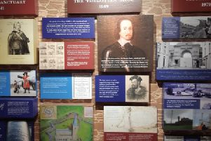 Part of the exhibition on display at the museum